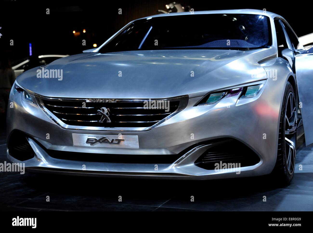 Exalt Peugeot concept car,Paris Motor Show,France - Stock Image