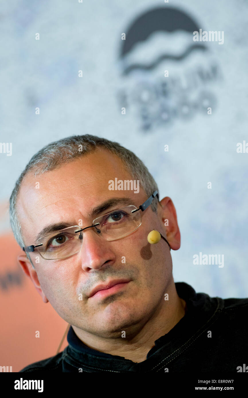Prague, Czech Republic. 13th Oct, 2014. Russian former oil tycoon and later the most famous prisoner Mikhail Khodorkovsky - Stock Image