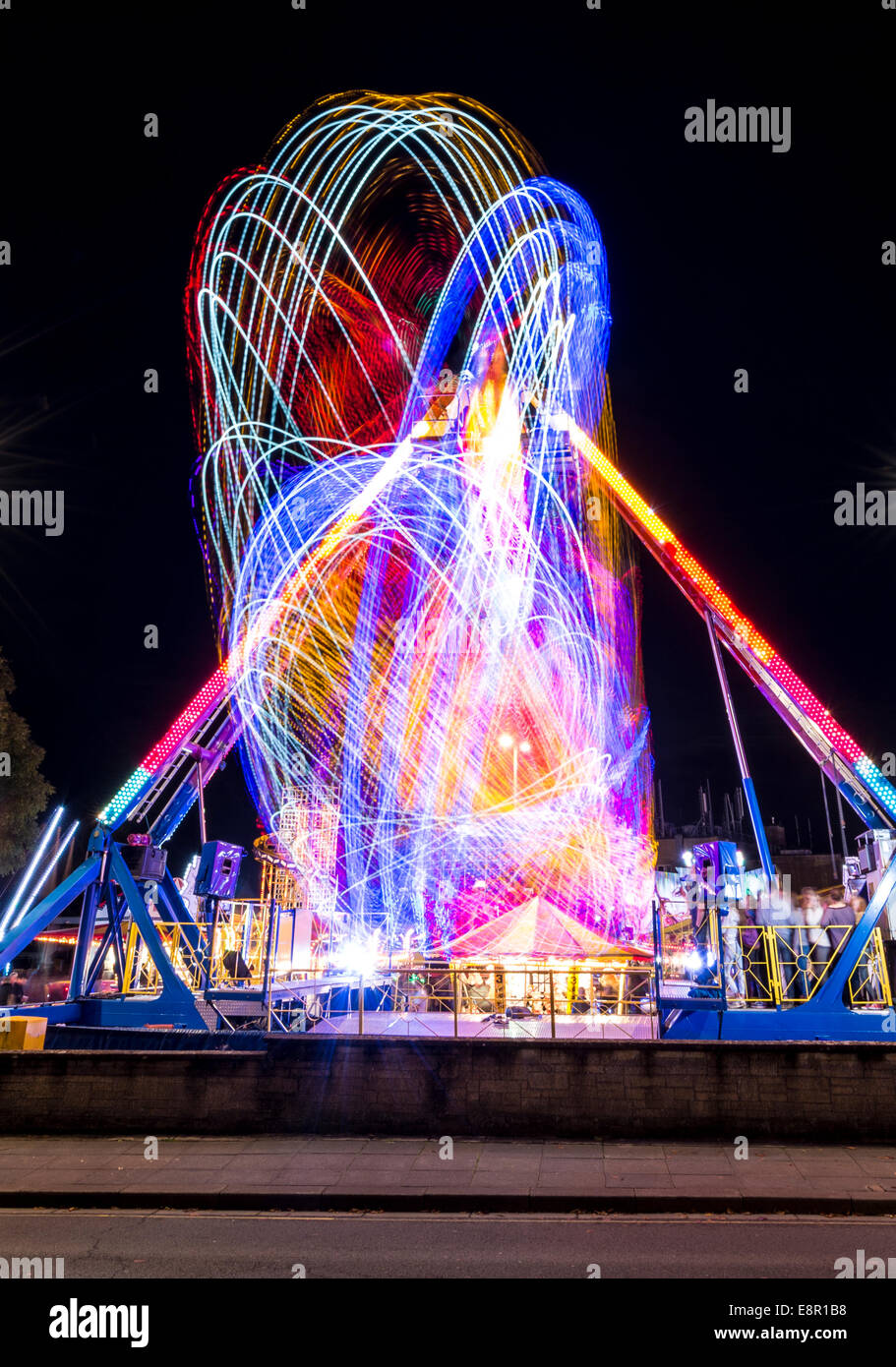 These are picture taken from the recent Fair in Cirencester England .This is called the Mop Fair consisting of fair - Stock Image