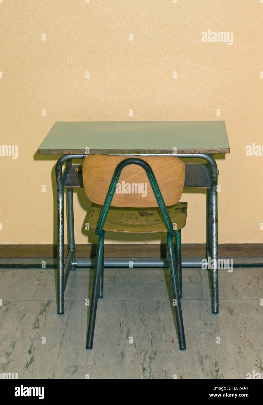 Old School Desk And Chair Stock Photo 74267059 Alamy