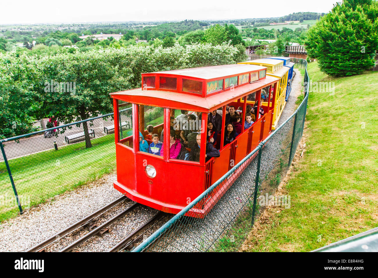 Hill train at Legoland Windsor Resort, Windsor, London, England, United Kingdom. - Stock Image