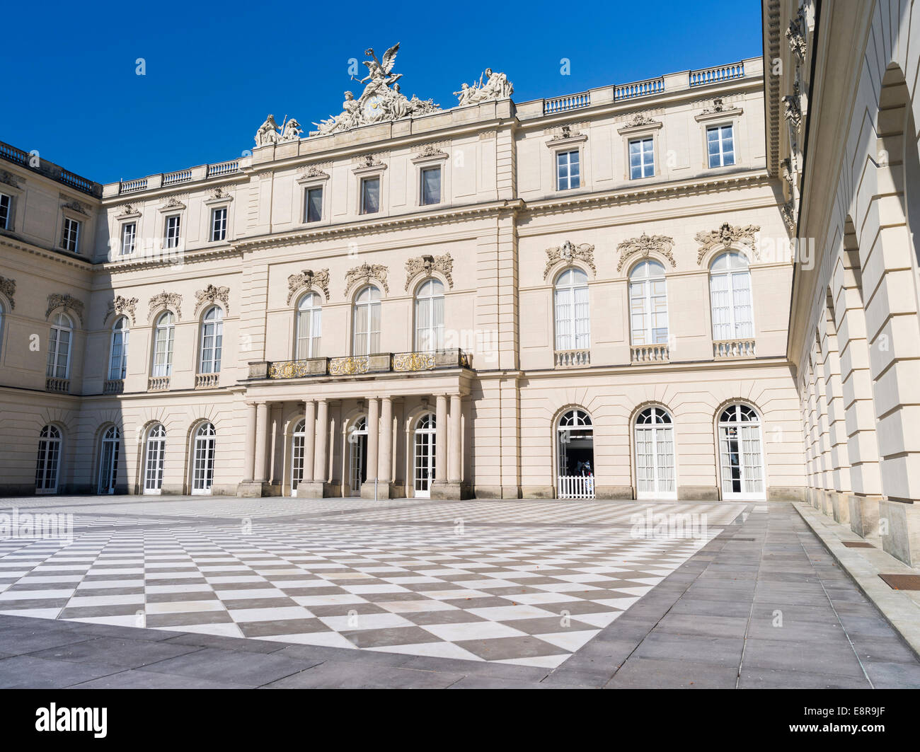 Herrenchiemsee Palace, located on an island in lake Chiemsee, Bavaria, Germany. (Large format sizes available) - Stock Image