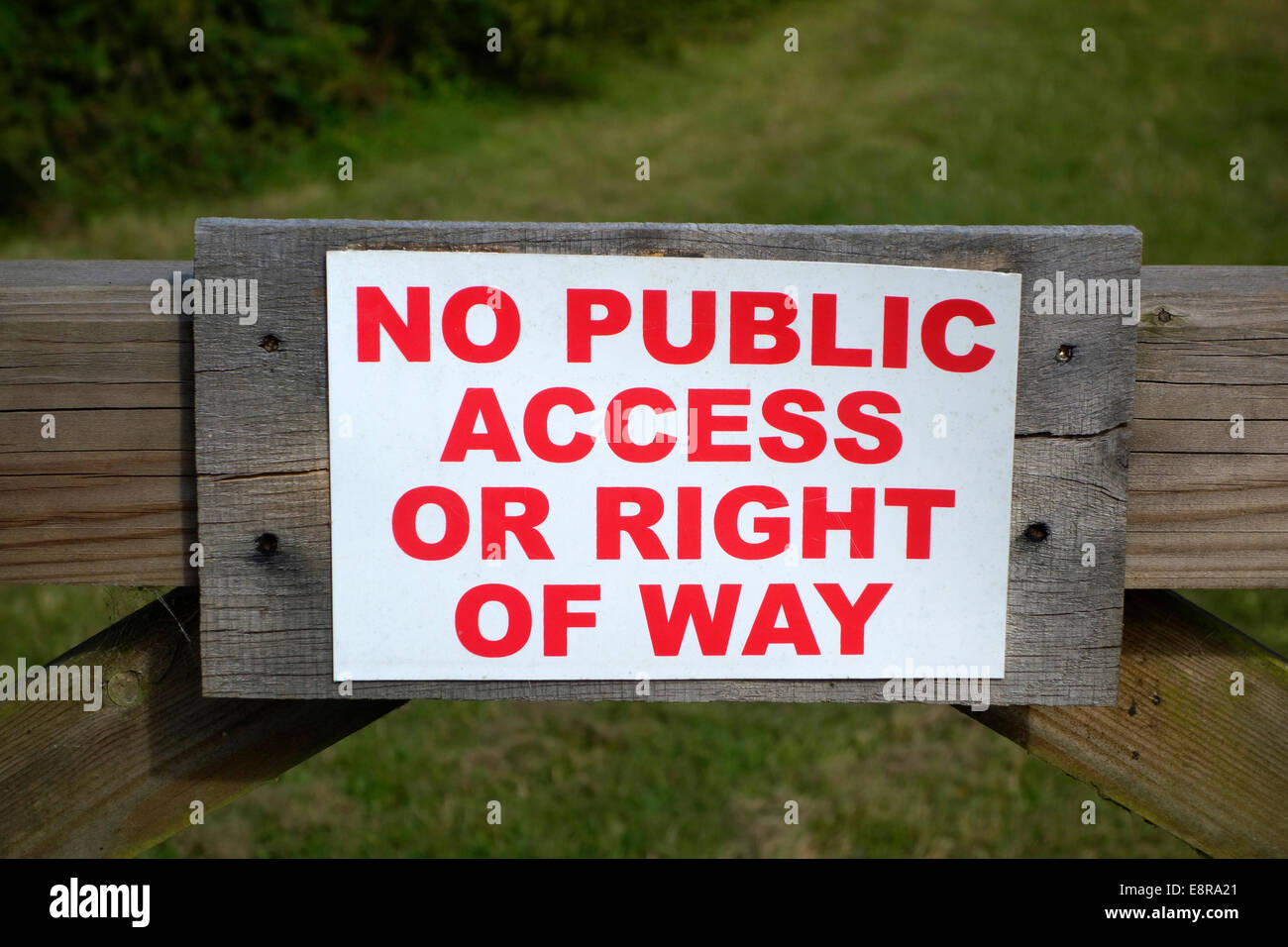 No Public Access Prohibited Sign, UK - Stock Image