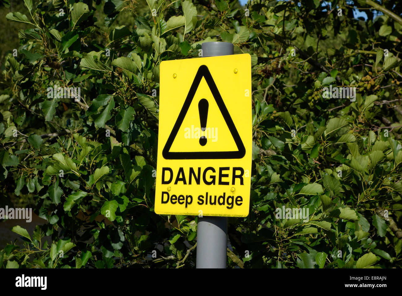 Danger Deep Sludge Warning Sign, UK - Stock Image