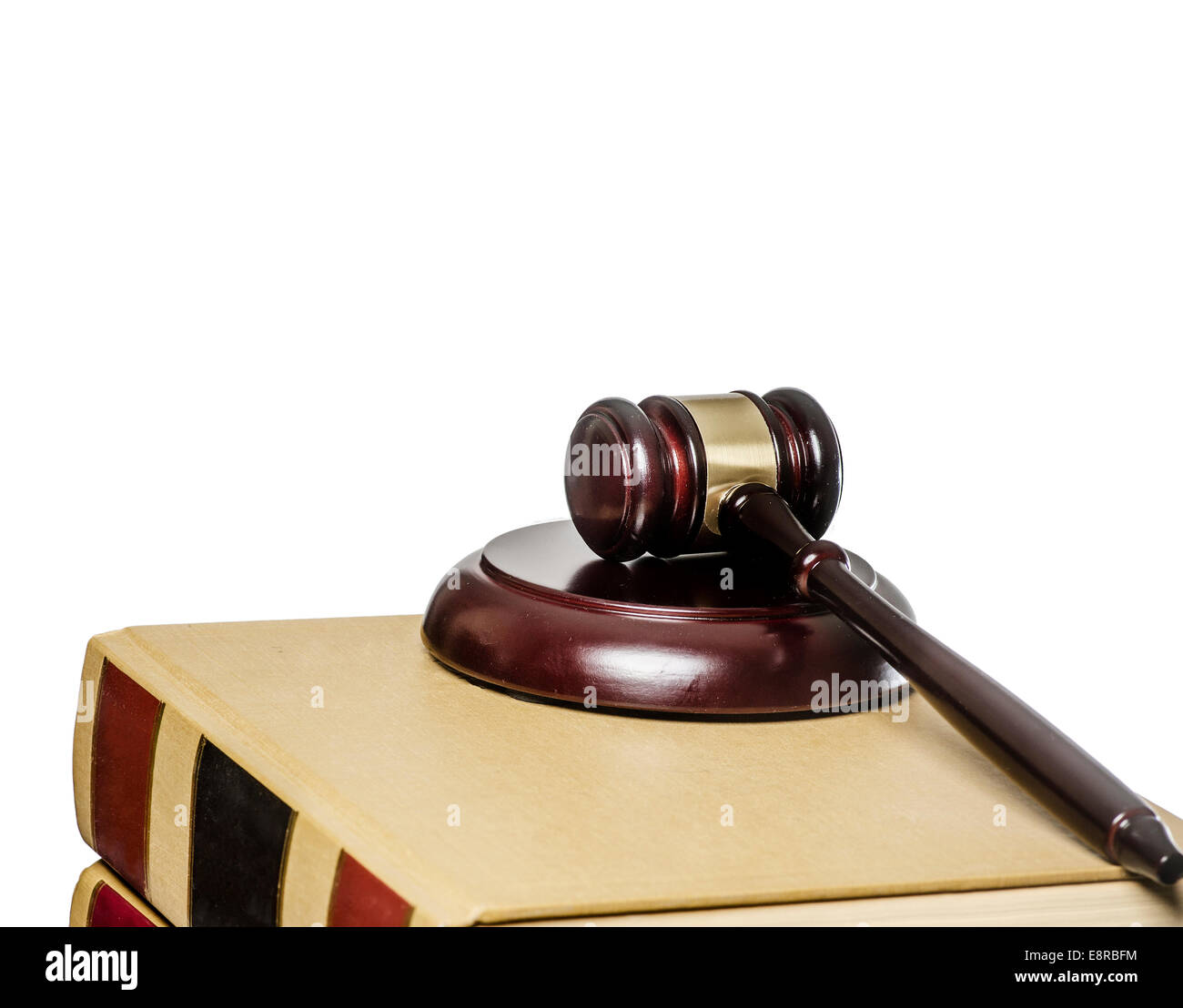 Legal,law concept image - wood gavel on books, - Stock Image