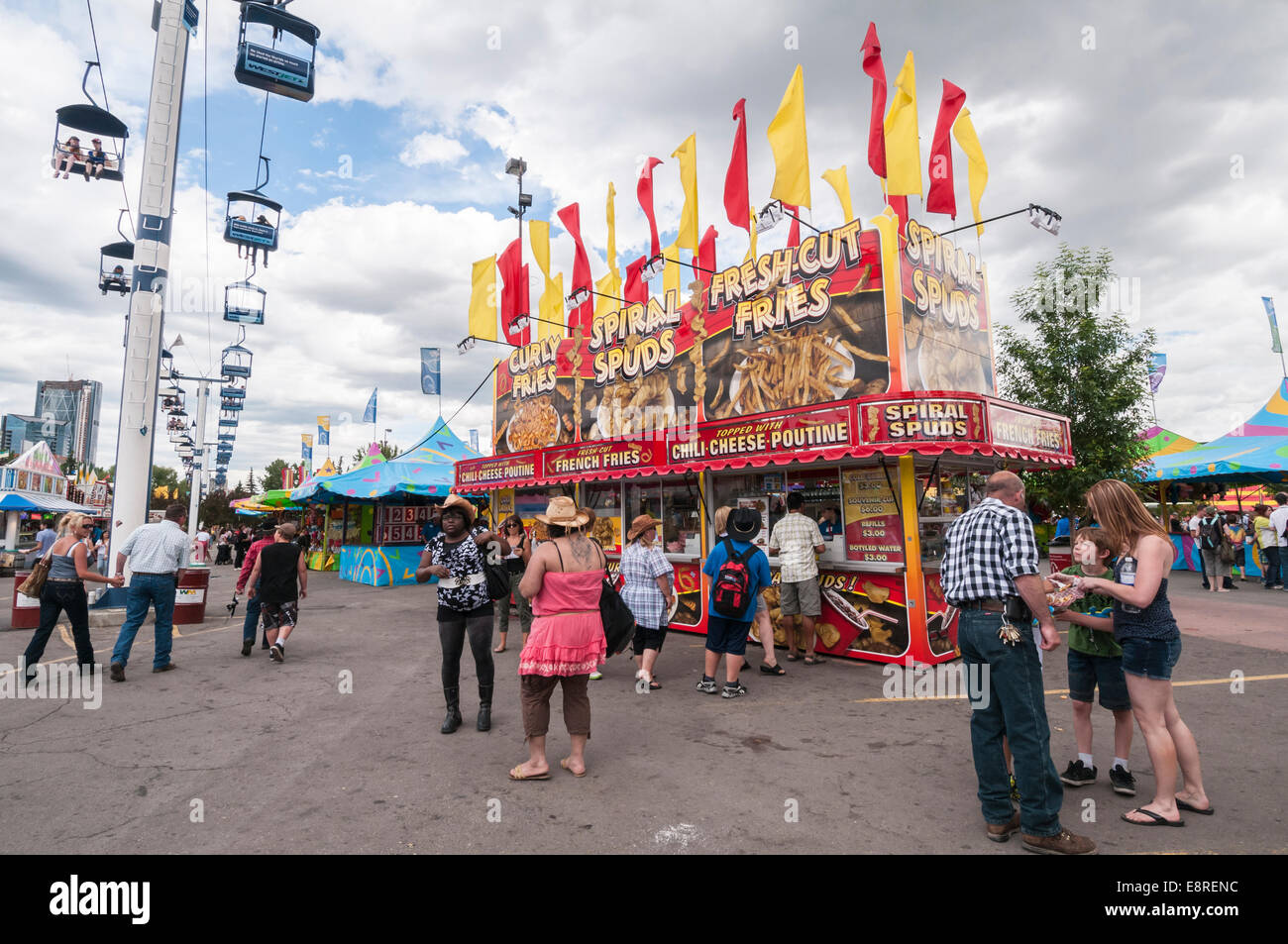 Spiral Spuds Food Outlet Calgary Stampede Midway