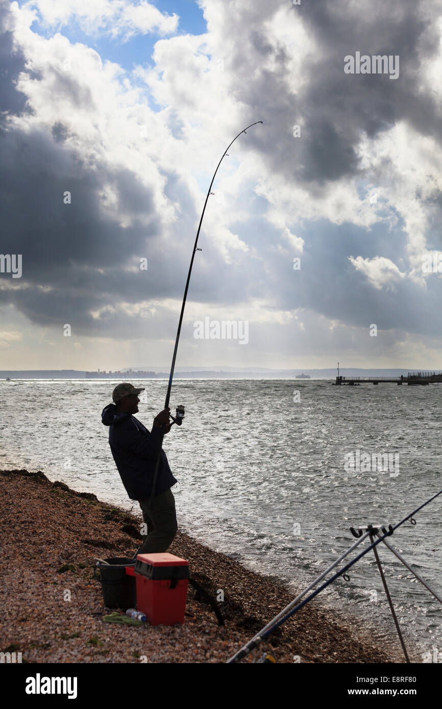 Fishing Rod Bending High Resolution Stock Photography And Images Alamy