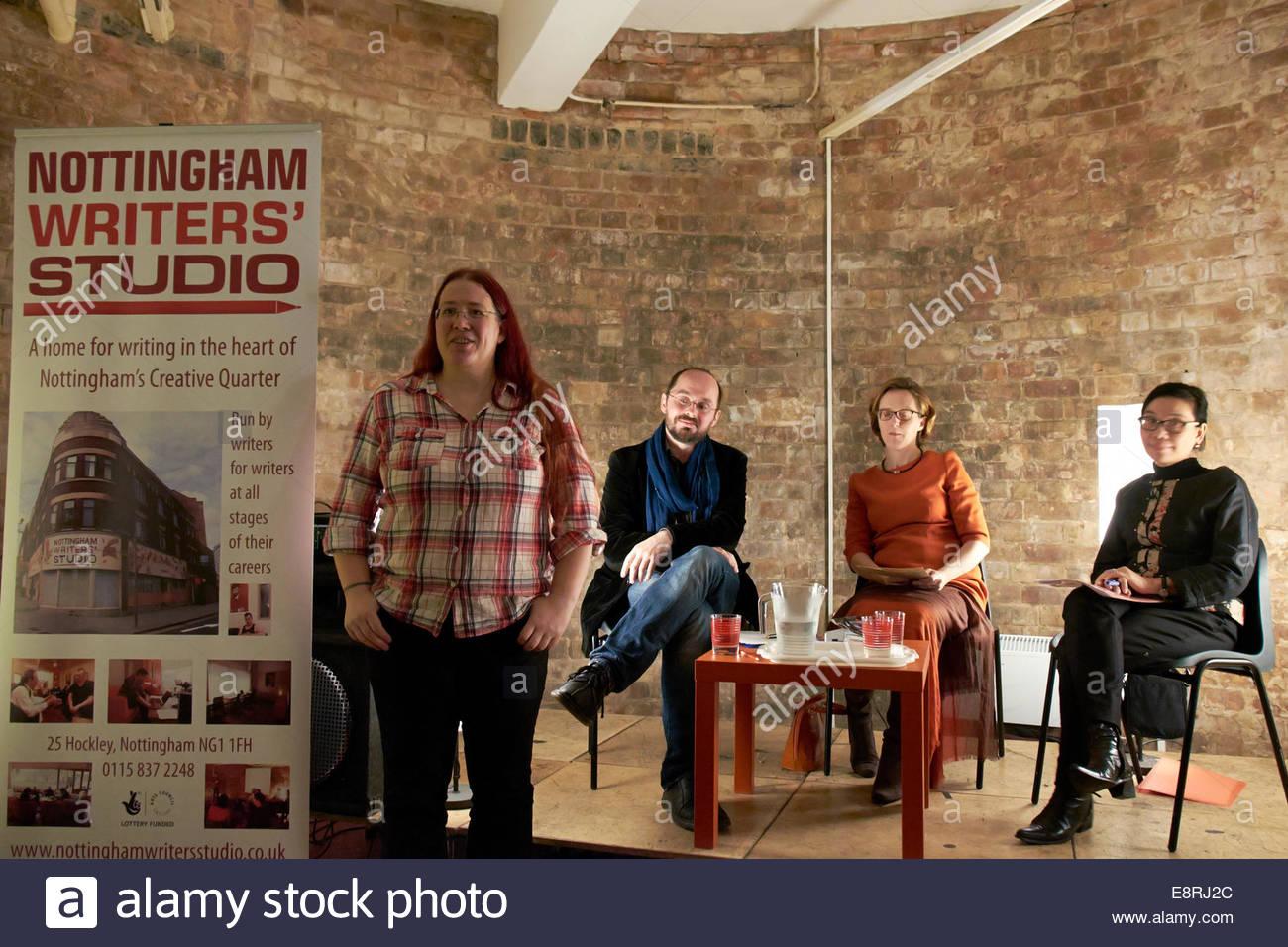 Nottingham, UK. 13 Oct, 2014 Nottingham Festival of Words - Writing from China at Nottingham Writers' Studio. - Stock Image