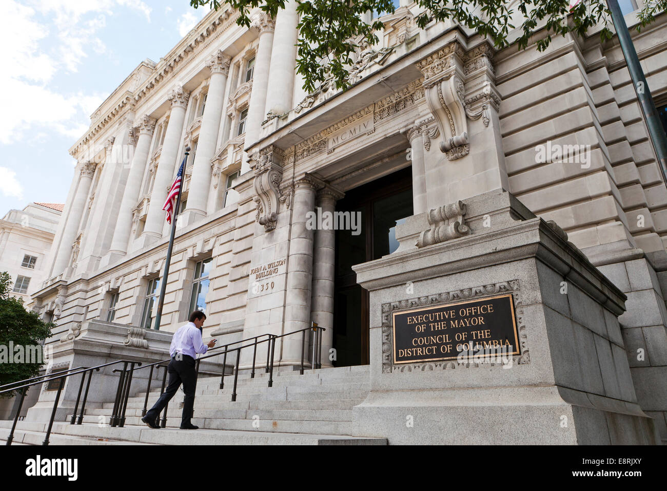John A. Wilson building - Washington, DC USA - Stock Image