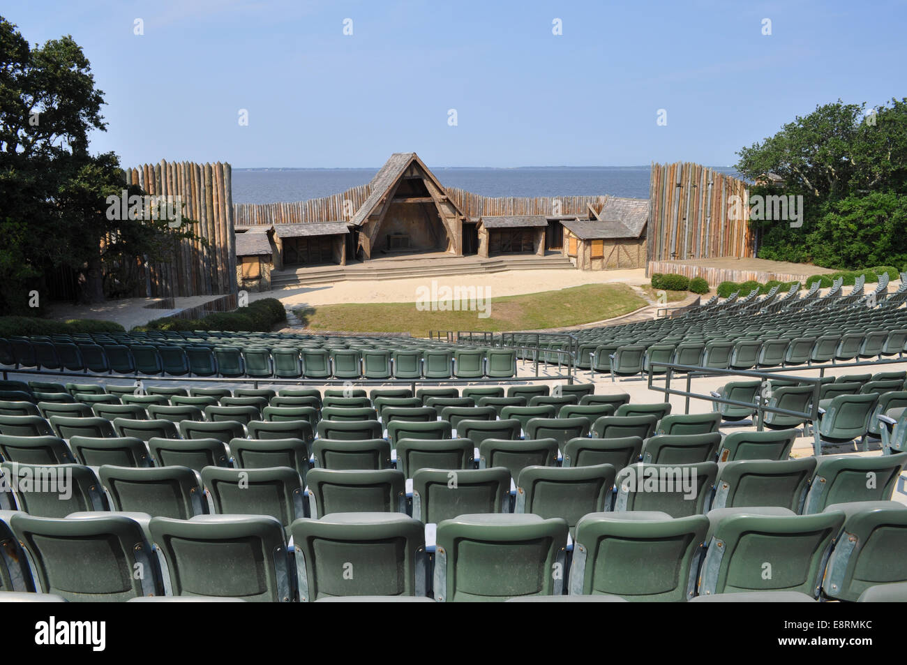 The Waterside Theater used for the Lost Colony Play Stock Photo