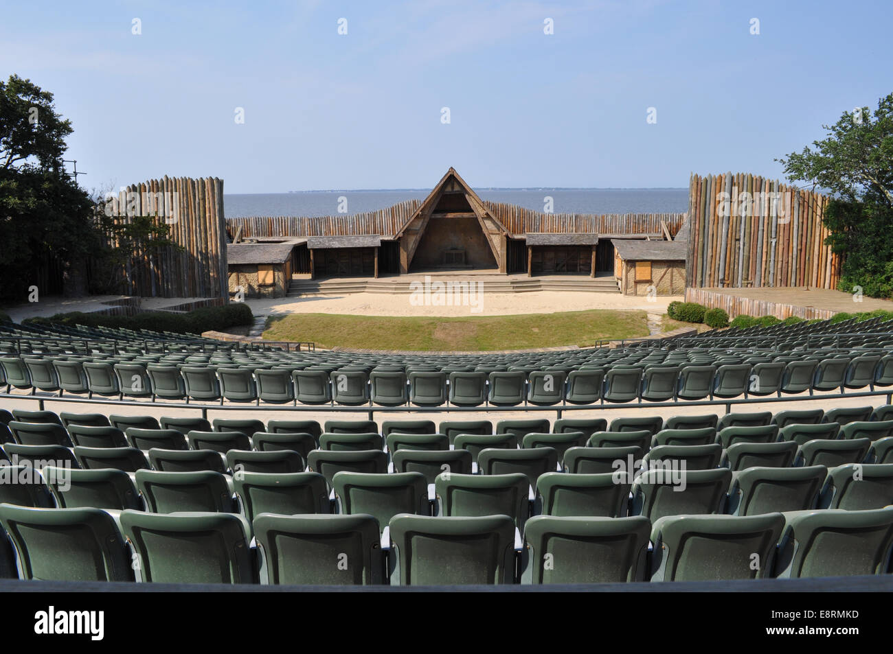 The Waterside Theater used for the Lost Colony Play - Stock Image