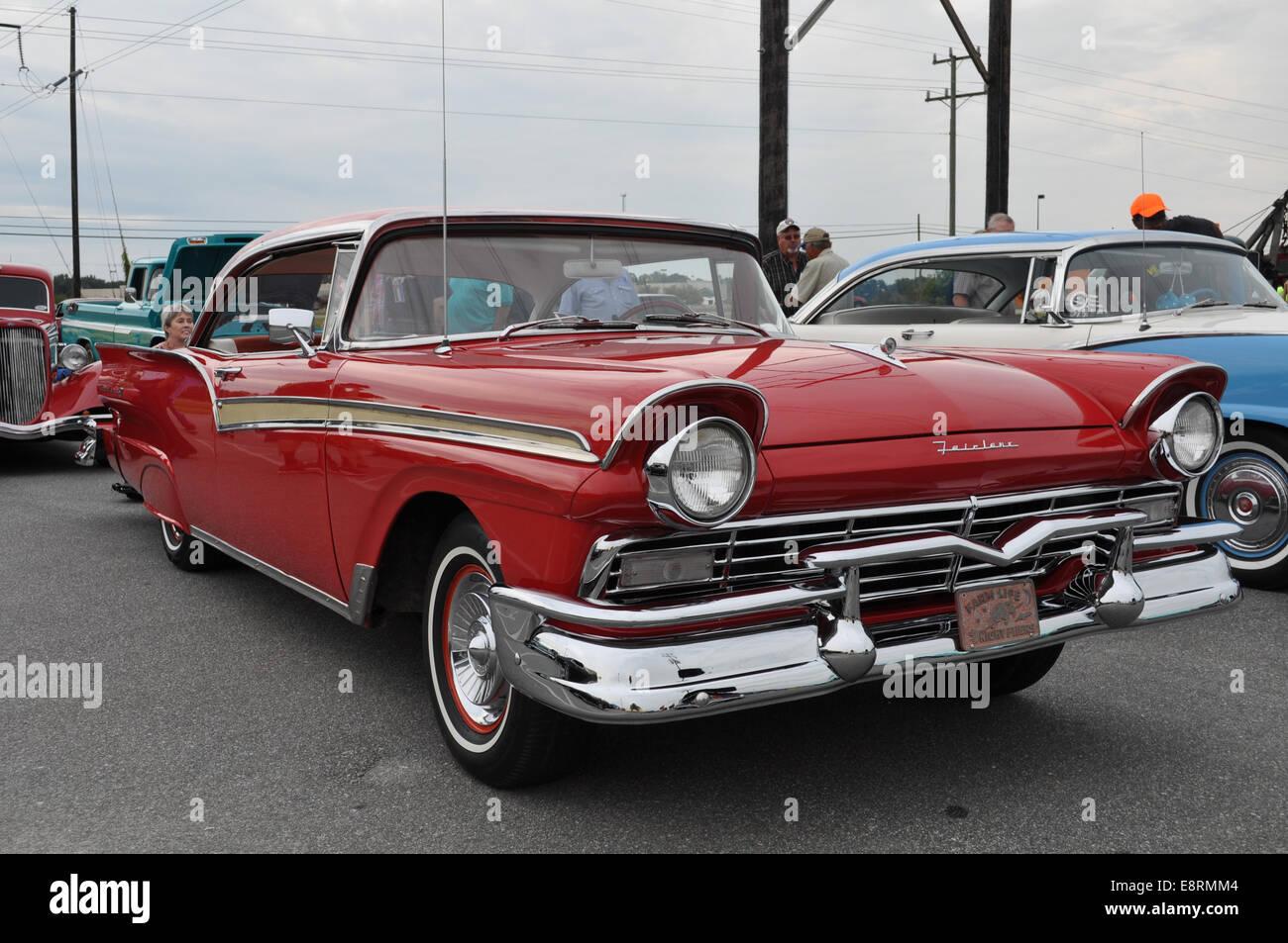 A 1957 ford fairlane 500 car