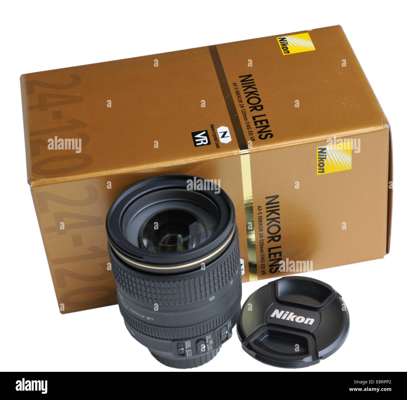Nikkor 24-120mm f4 zoom lens by Nikon - Stock Image