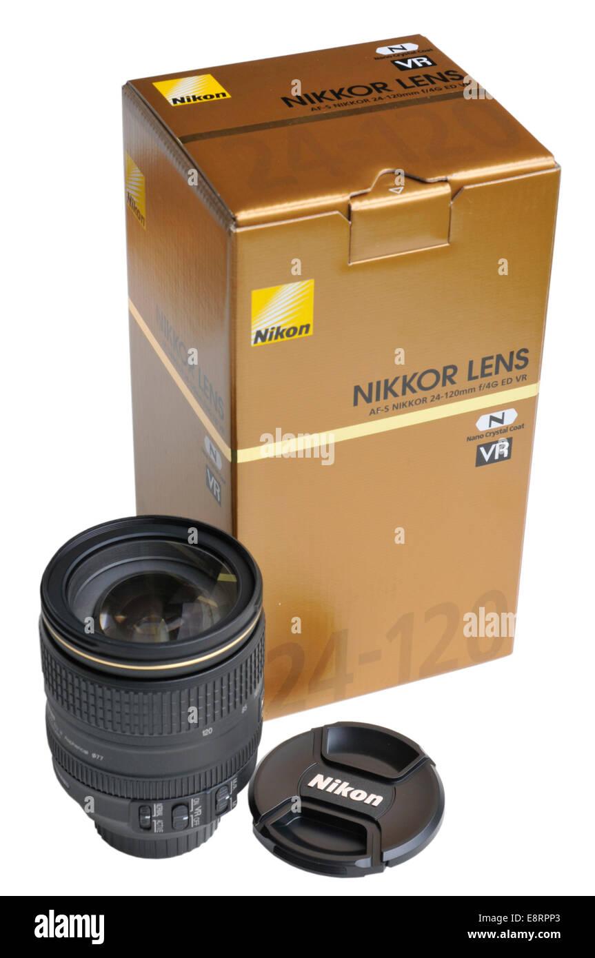 Nikkor 24-120mm f4 zoom lens by Nikon - Stock Image