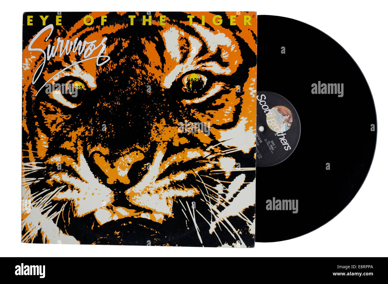 Eye of the Tiger album by Survivor - Stock Image