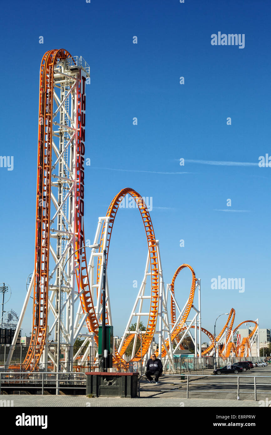 Thunderbolt Rollercoaster - Stock Image