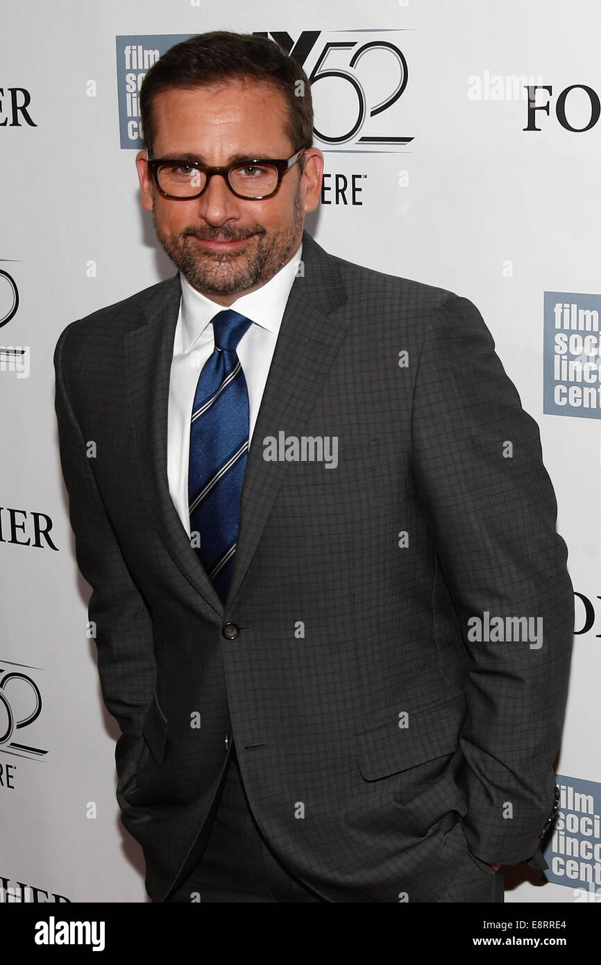 NEW YORK-OCT 10: Actor Steve Carell attends the 'Foxcatcher' premiere at the 52nd New York Film Festival - Stock Image
