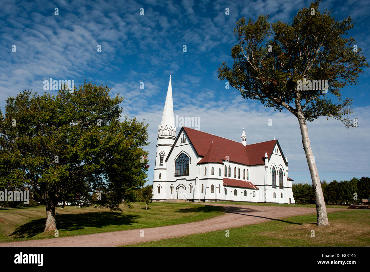 St. Mary's Church - Indian River - Prince Edward Island, Canada - Stock Image