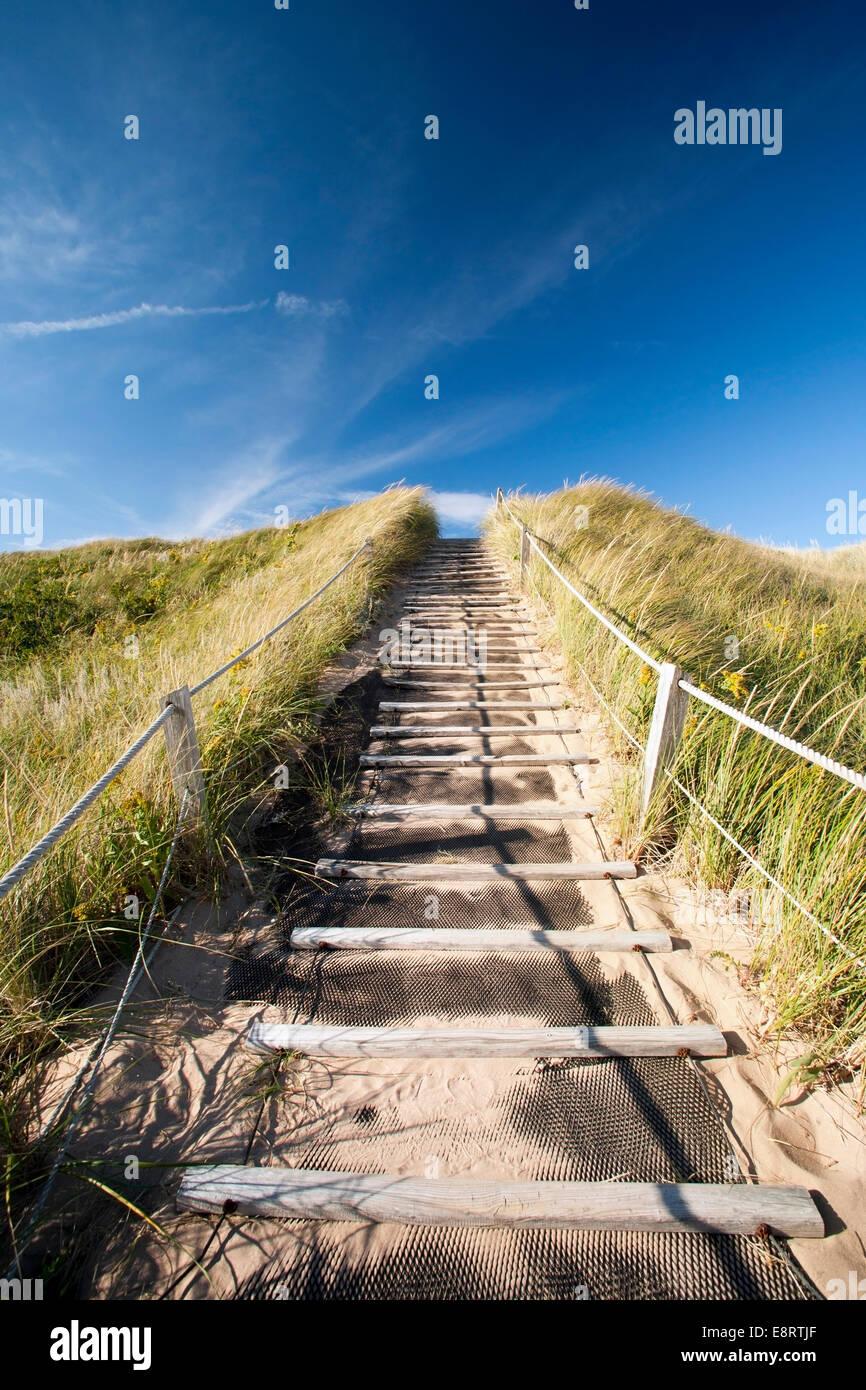 Greenwich Dunes Trail - Prince Edward Island, Canada - Stock Image