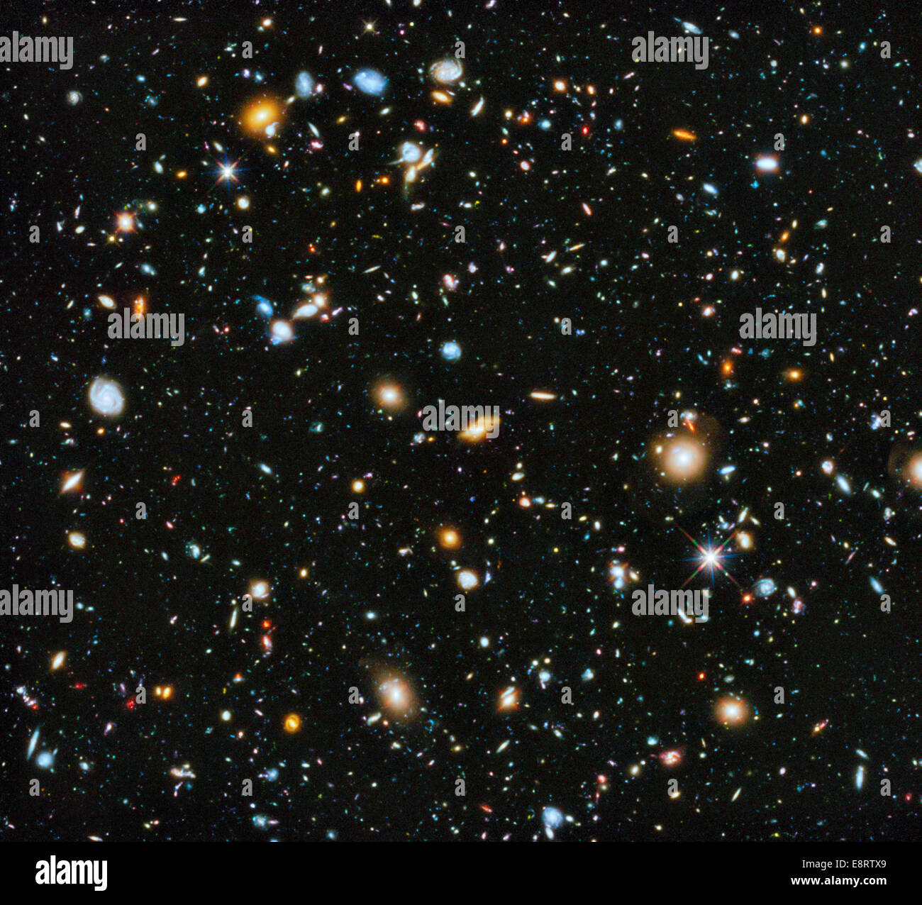 Astronomers using NASA's Hubble Space Telescope have assembled a comprehensive picture of the evolving universe - Stock Image