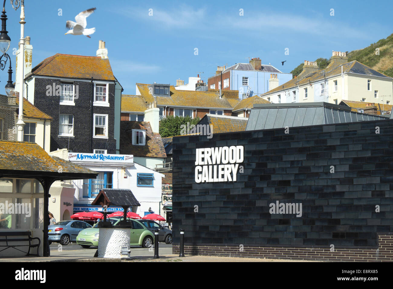 The Jerwood Art Gallery Hastings Old Town East Sussex England UK GB - Stock Image