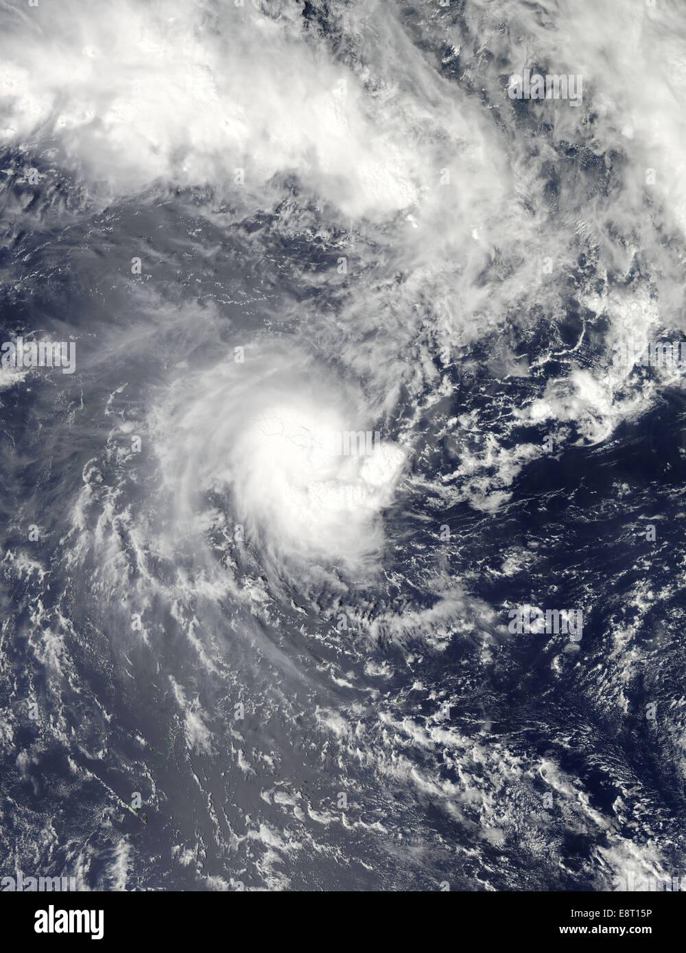 NASA's Aqua Satellite Gets a Visible Look at Tropical Cyclone - Stock Image