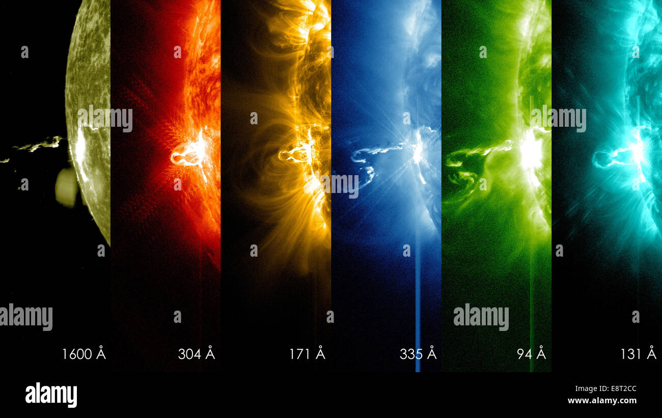 NASA's SDO Shows Images of Significant Solar Flare - Stock Image