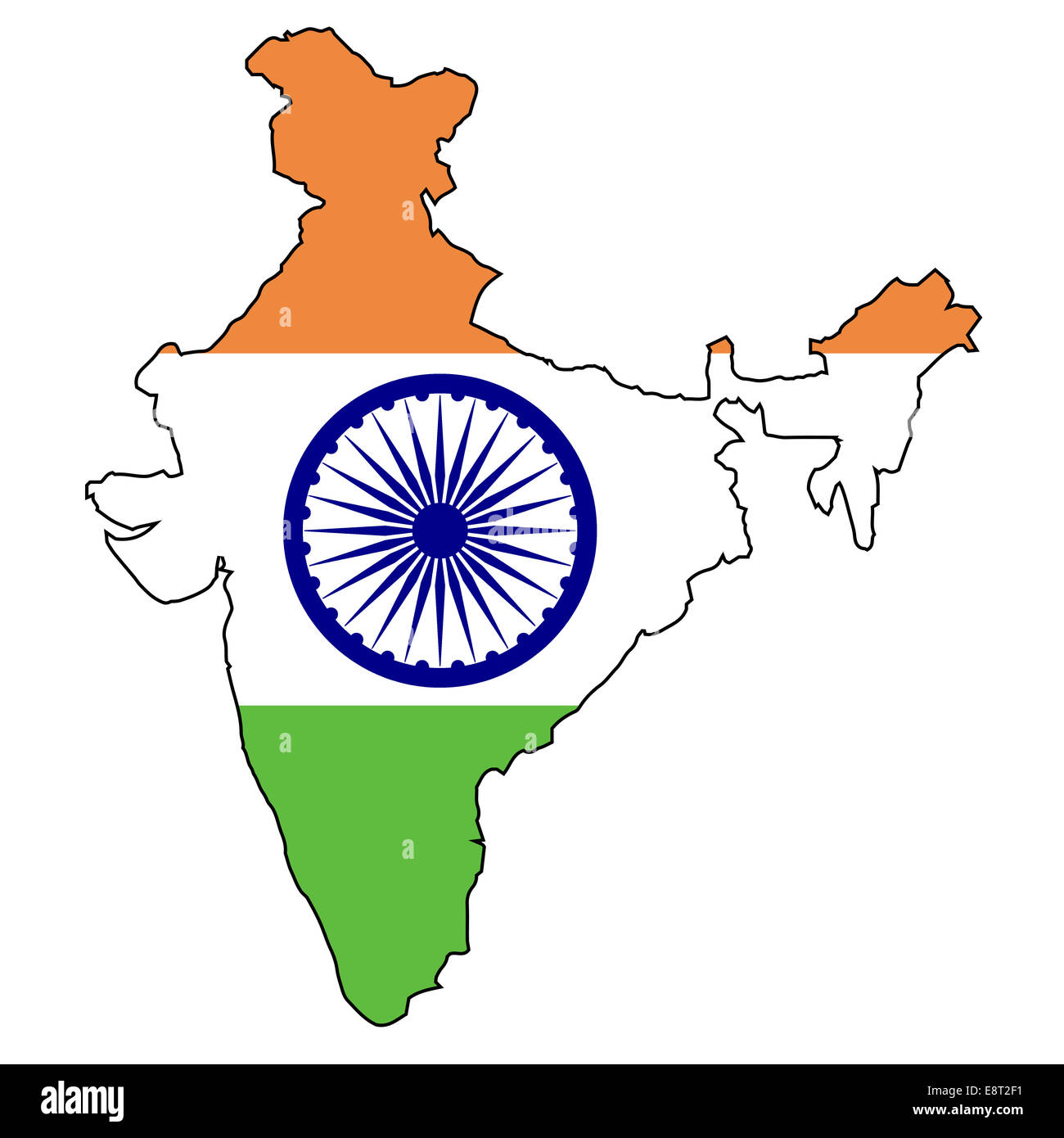 India Map Outline Cut Out Stock Images & Pictures - Alamy