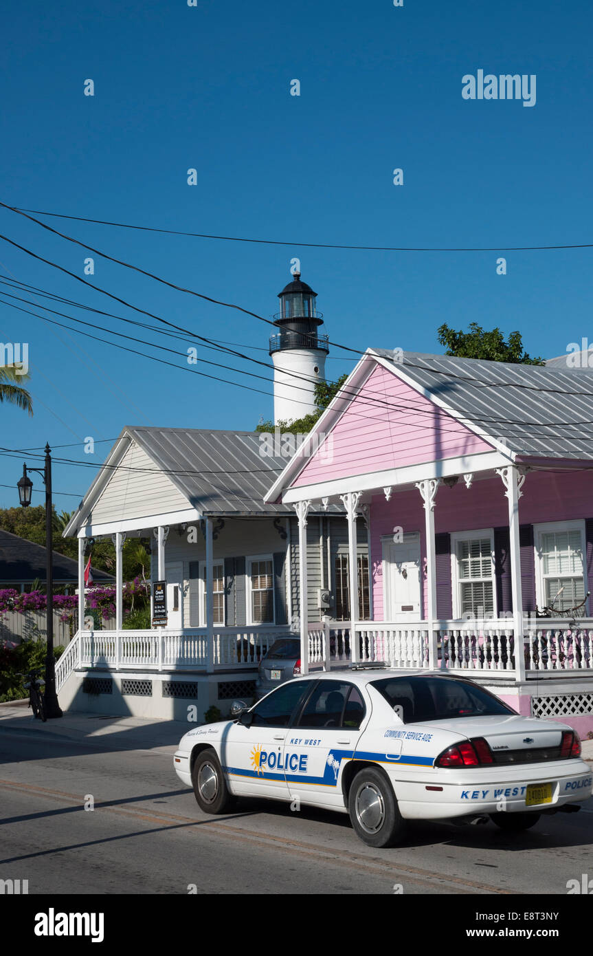 Police car in Key West, Florida, USA Stock Photo