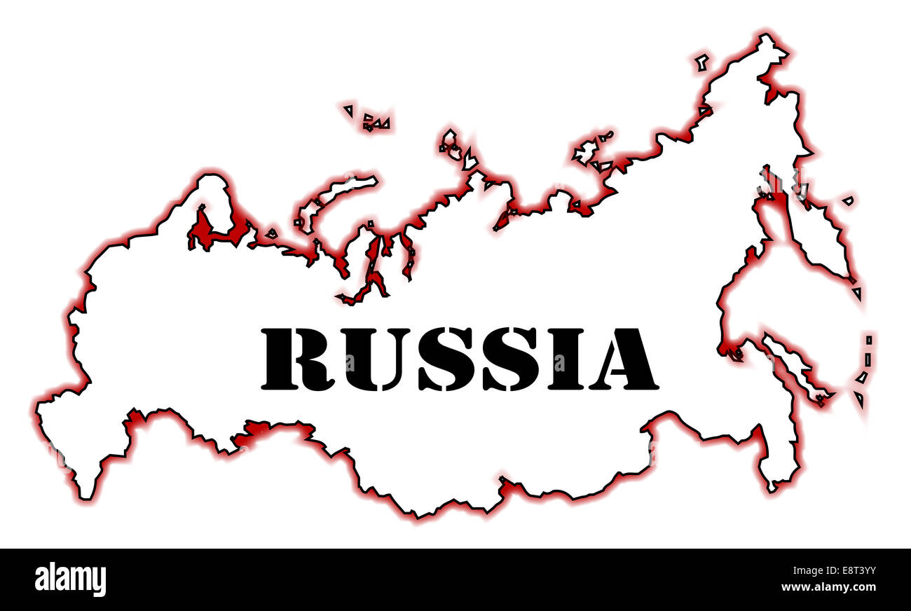 Russia Map Outline Stock Photos Russia Map Outline Stock Images