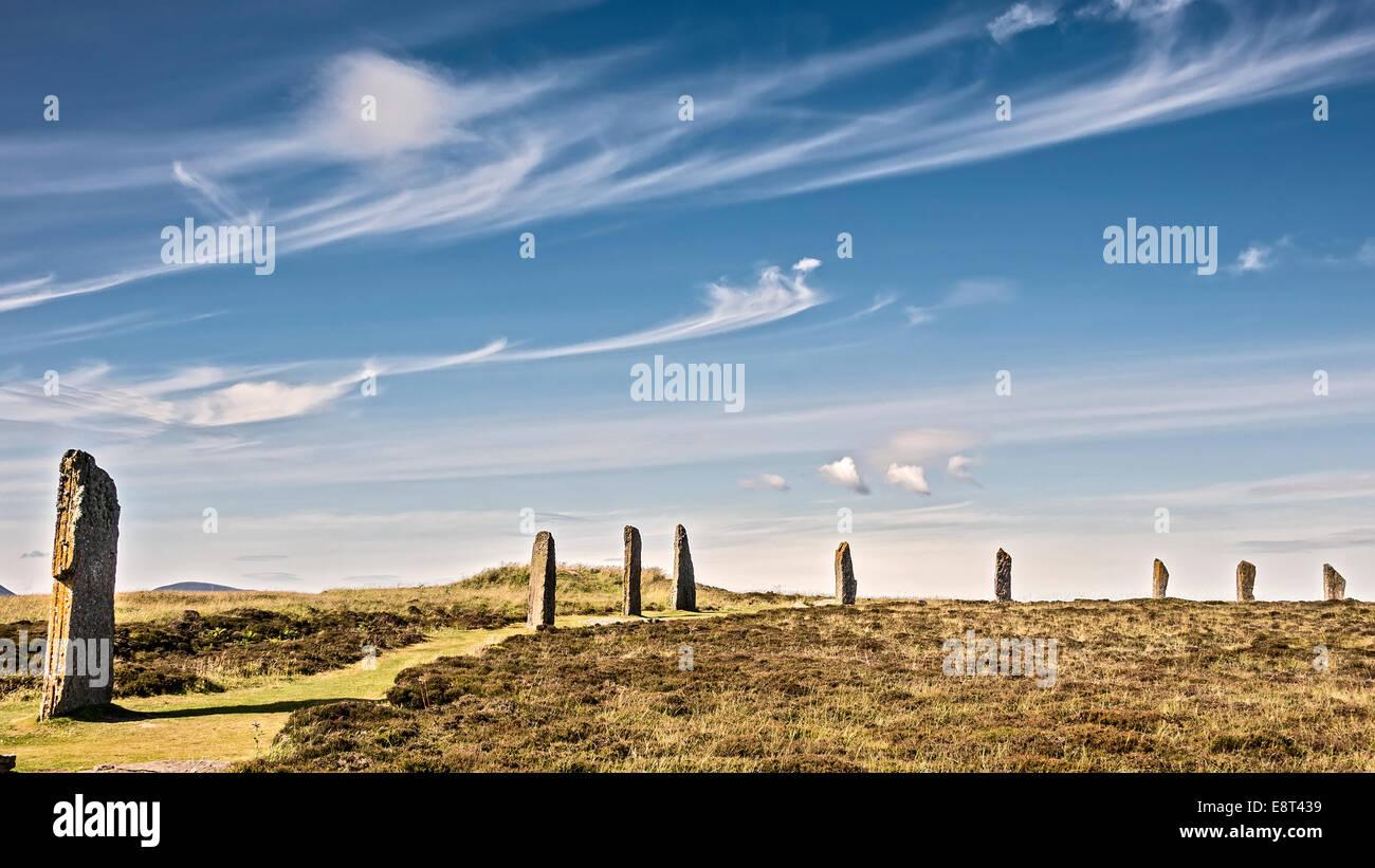 Ring Of Brodgar Orkney Islands UK - Stock Image