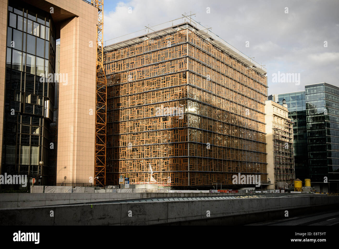 Europa building, designed by Philippe Samyn & Partners, is the new meeting venue of the European Council, and - Stock Image