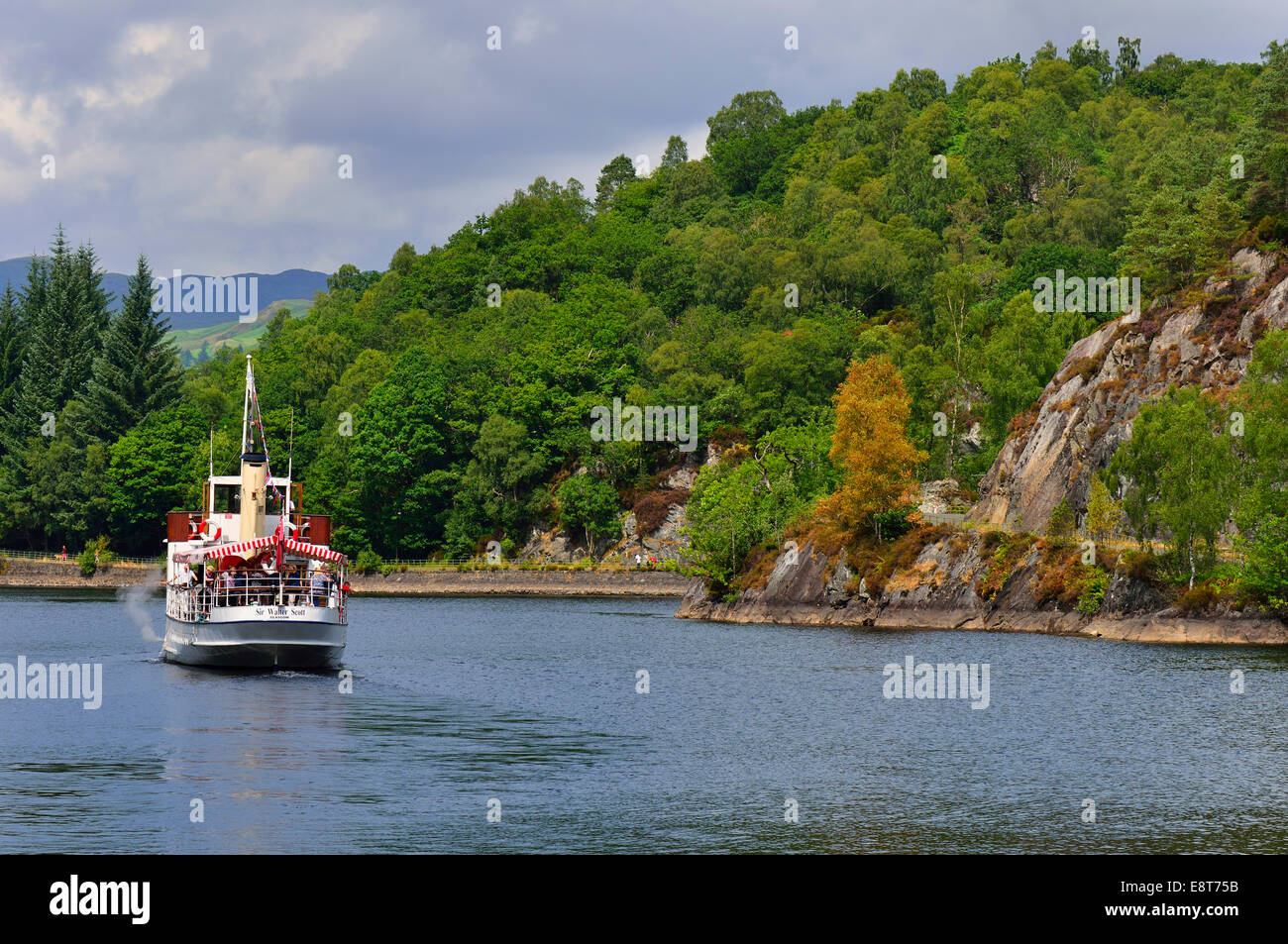 The excursion boat SS Sir Walter Scott, Loch Katrine, Stirling, Central, Scotland, United Kingdom - Stock Image