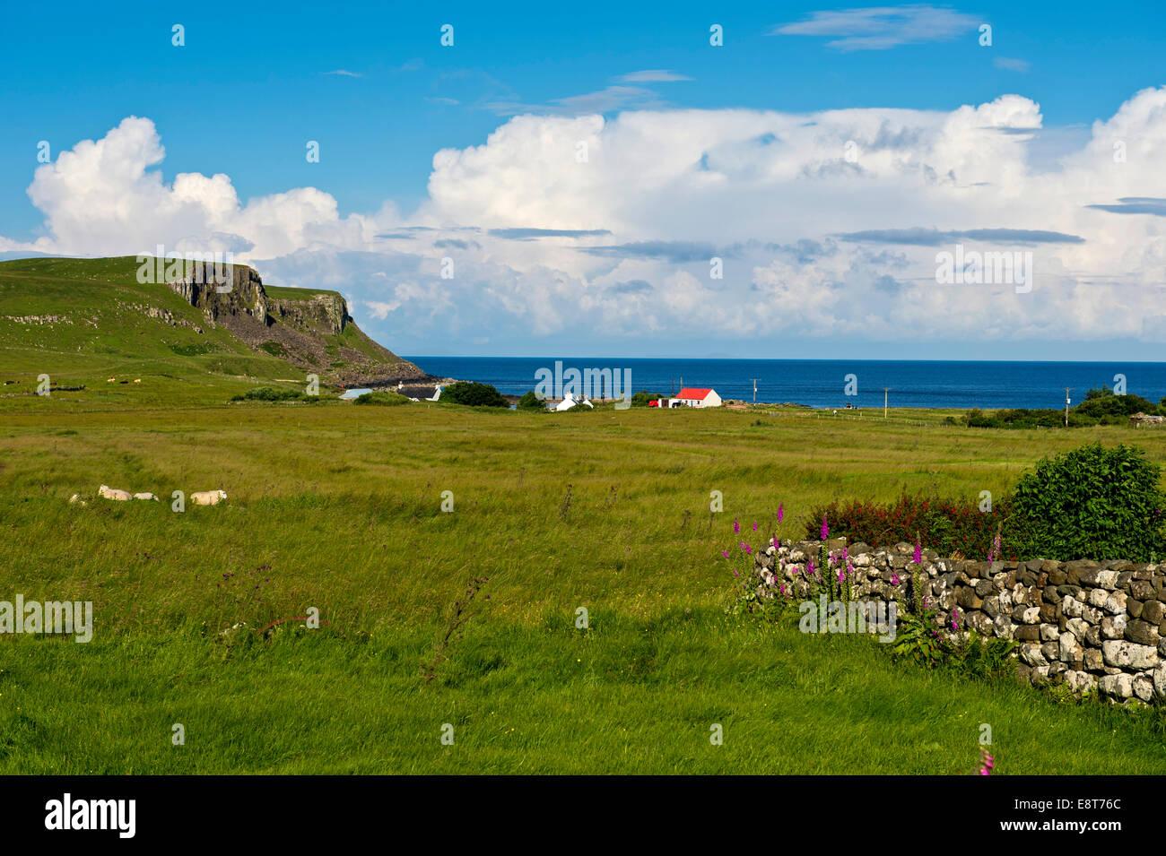 Coastline near Bornesketaig, Isle of Skye, Inner Hebrides, Scotland, United Kingdom - Stock Image