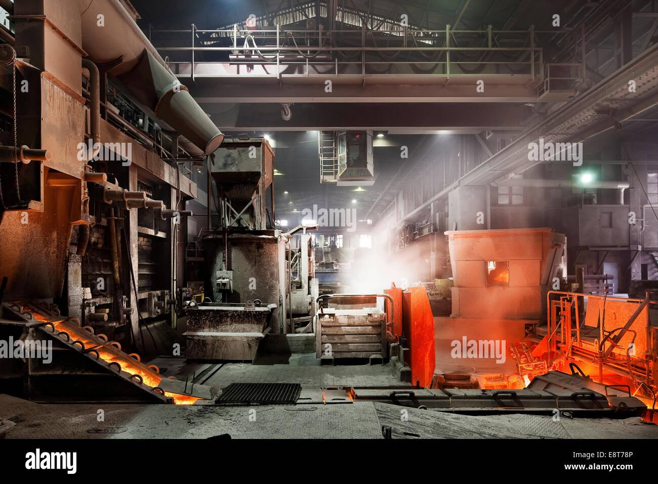 Copper smelter, industrial plant, Brixlegg, North Tyrol, Austria - Stock Image