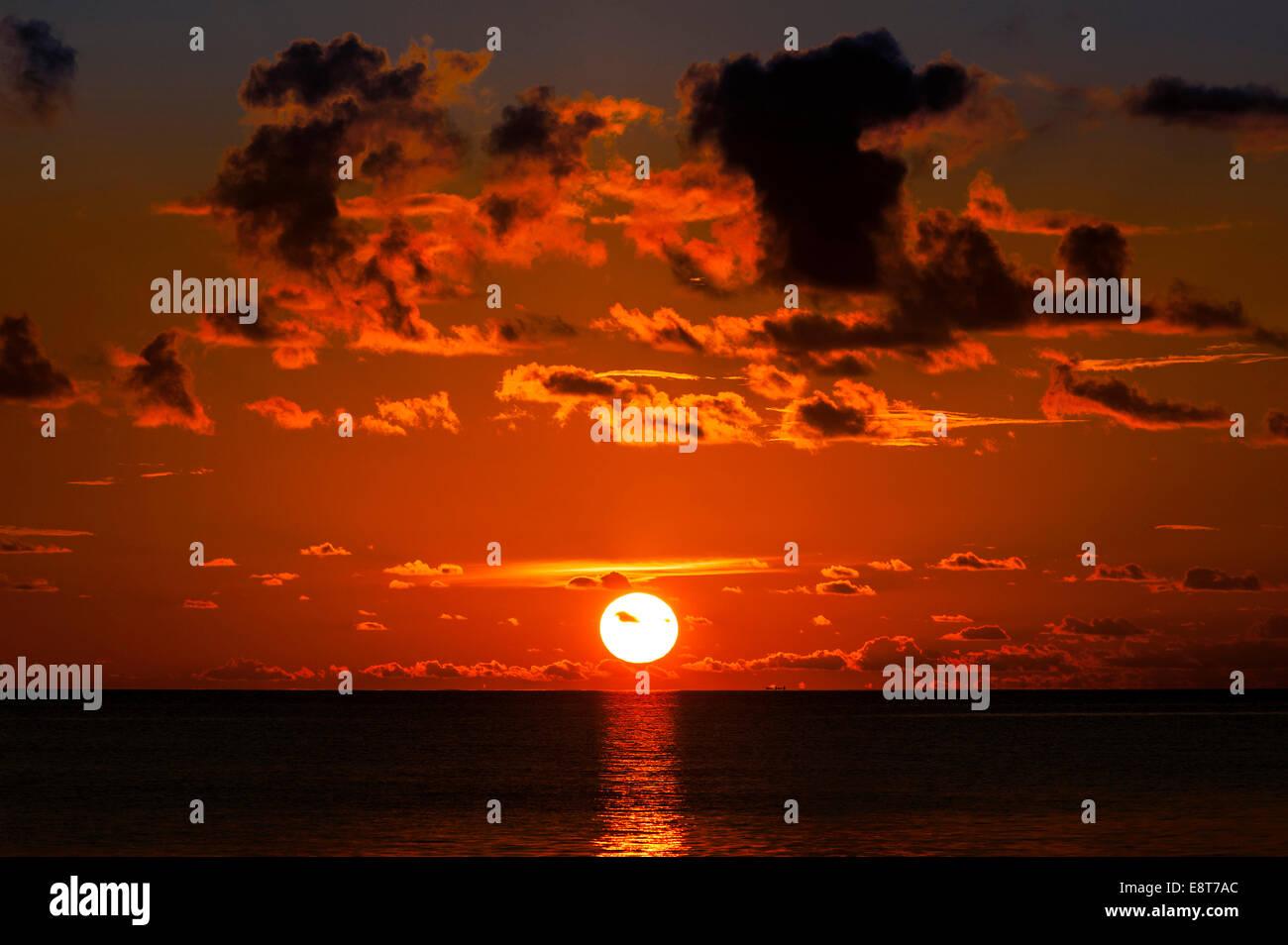 Sunset, Sulawesi, Indonesia - Stock Image