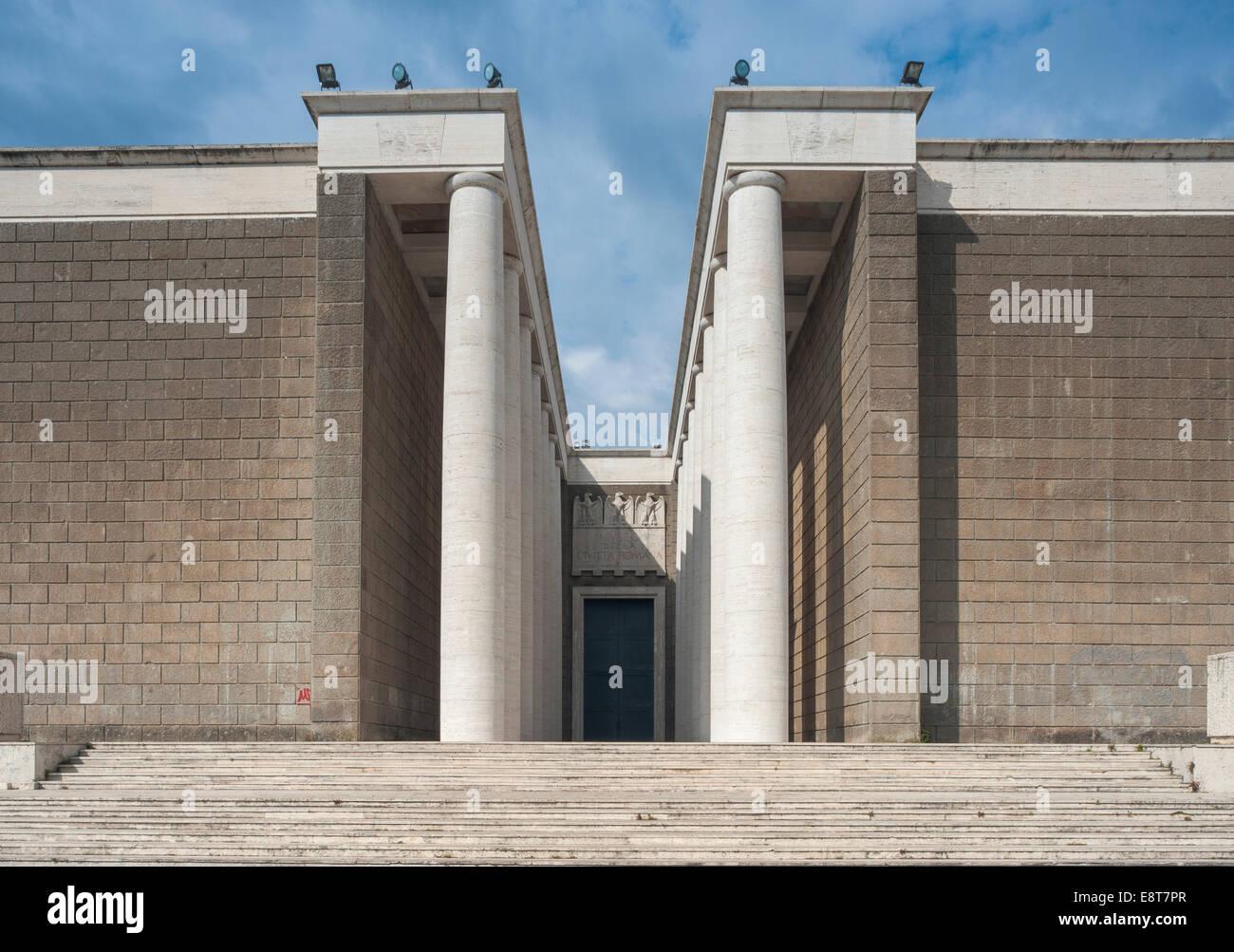 Museo della Civilta Romana, Museum of Roman Civilisation, serving the fascist propaganda, EUR district, prestigious - Stock Image
