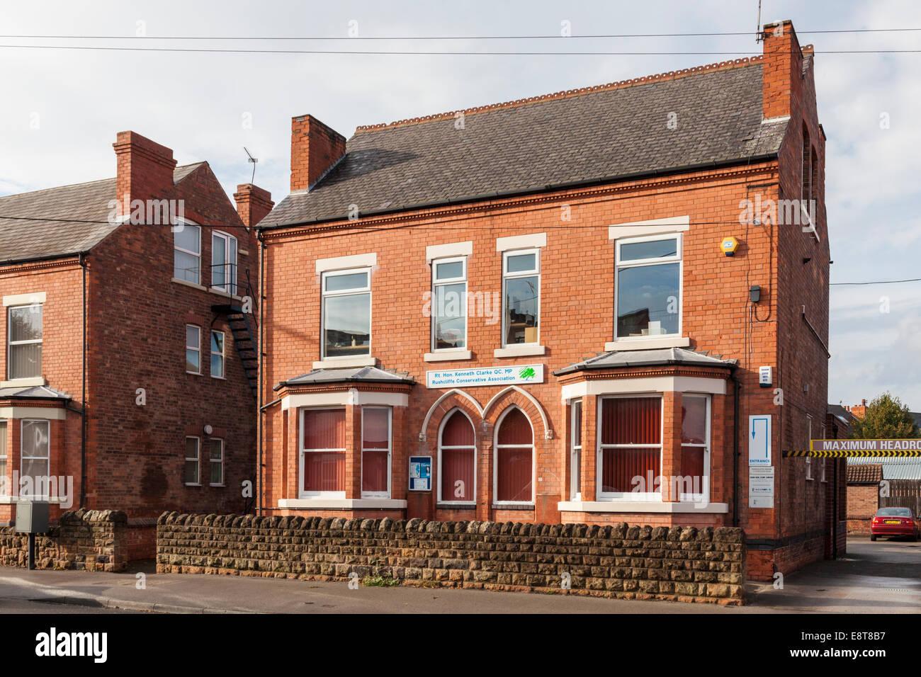 Rushcliffe Conservative Association Headquarters in West Bridgford, Nottinghamshire, England, UK - Stock Image