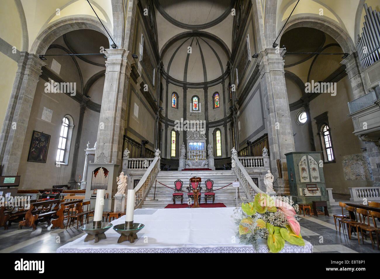Italia Friuli V.G. Cividale  Duomo di Santa Maria Assunta del XV° sec. Il presbiterio| Italy Friuli Venezia Giulia Stock Photo