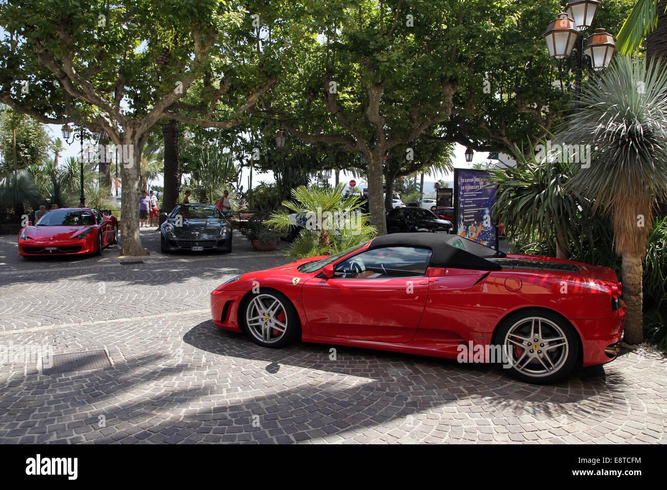 Sports car.Ferrari F430 spider convertible - Stock Image