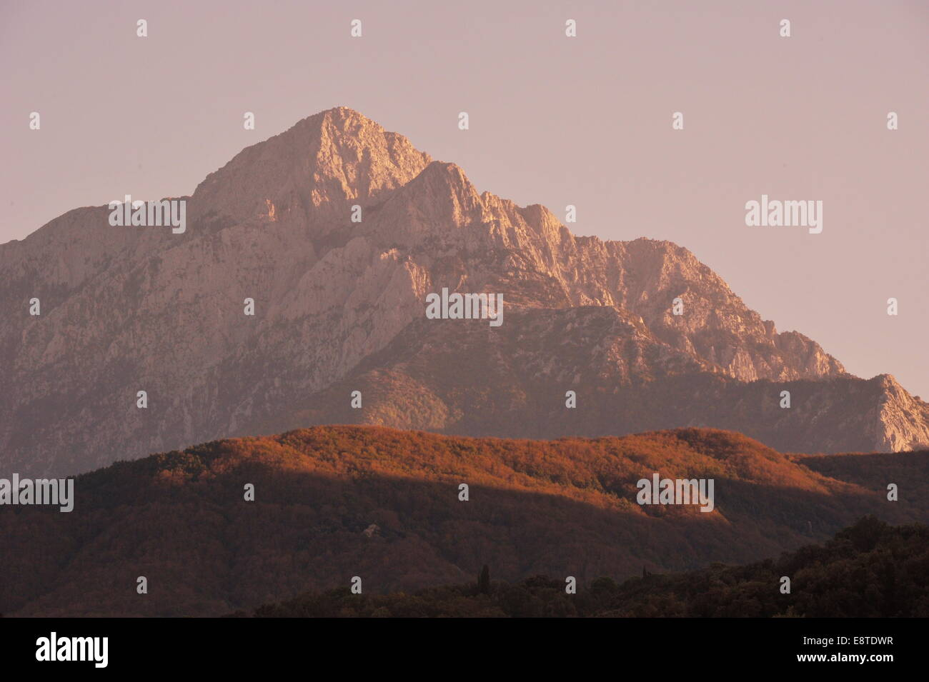 Mount Athos (2.300 Mtr.), Chalkidiki, Griechenland. - Stock Image