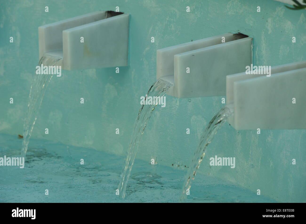 Wellness-Bereich in Hotelanlage, Chalkidiki, Griechenland. - Stock Image