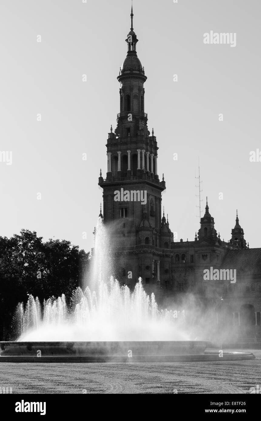 Plaza de España, Seville, Spain. Bult in 1929  for the Universal Exhibition of that year. - Stock Image