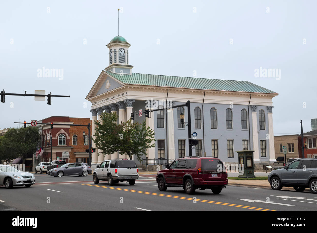 Historical Davidson County Courthouse along Main ST
