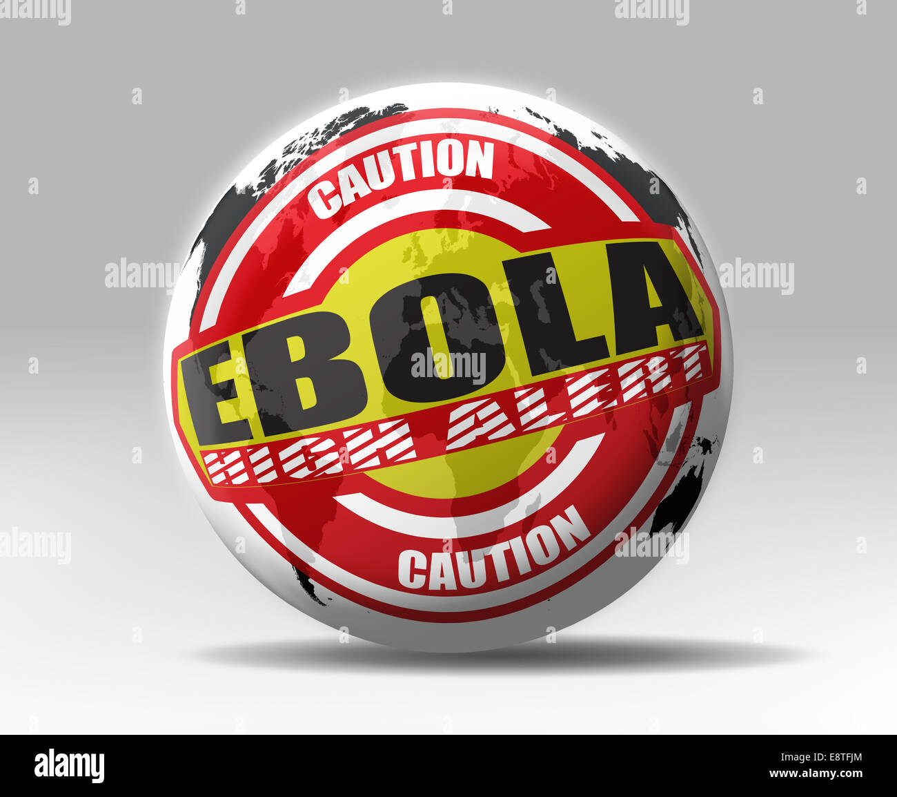 Ebola high alert world wide - Stock Image