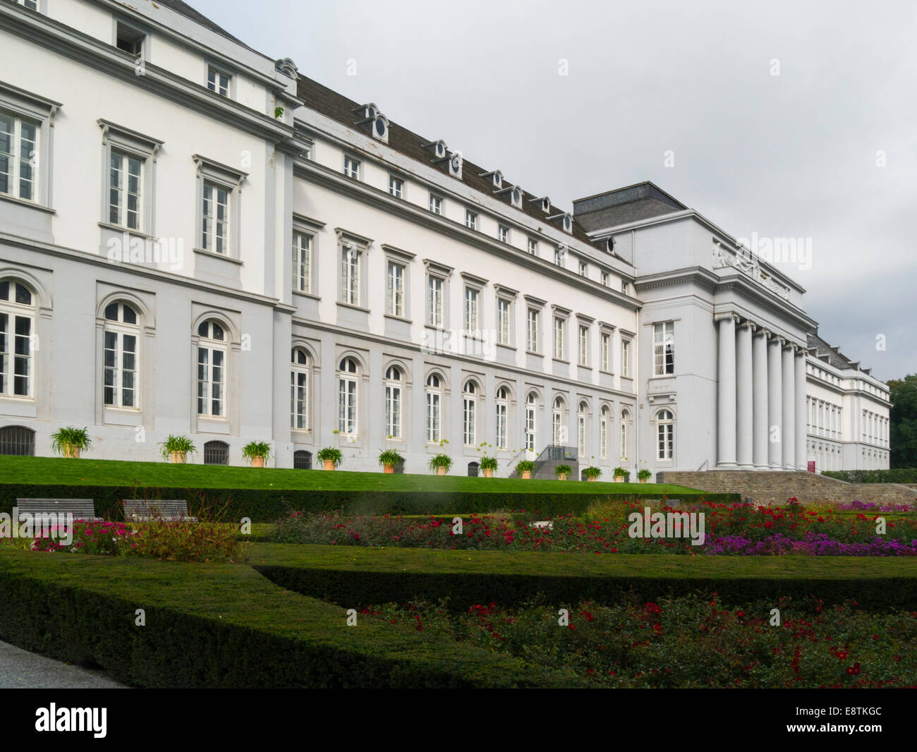 Kurfurstfiches Schloss- Electoral Palace former home of Archbishop of Trier Koblenz Germany EU on lovely september - Stock Image