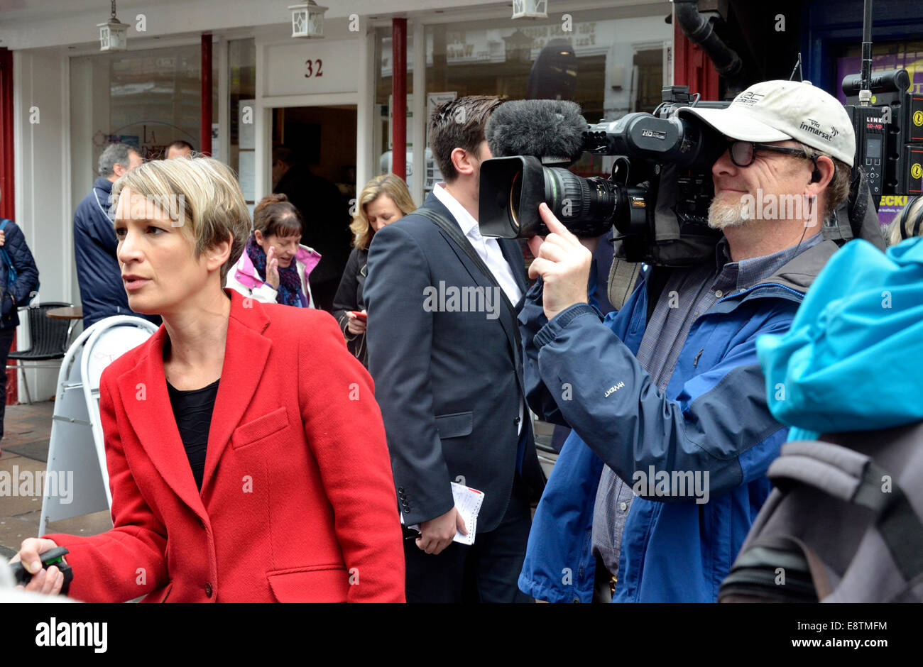 Rachel Younger, Sky News Correspondent,  in Rochester for the 2014 by-election... - Stock Image