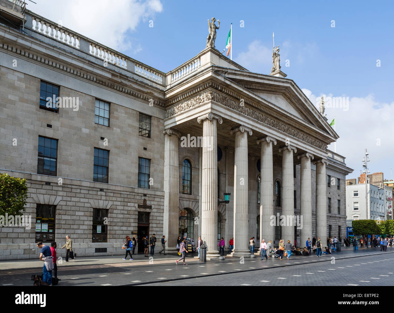 General Post Office on O'Connell Street, republican headquarters during the Easter Rising of 1916, Dublin, Republic - Stock Image