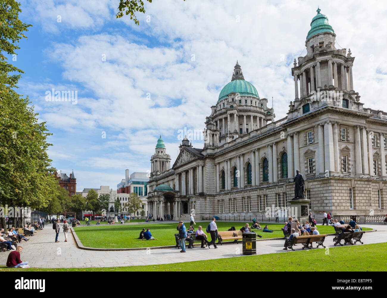 Belfast City Hall, Donegall Square, Belfast, Northern Ireland, UK - Stock Image