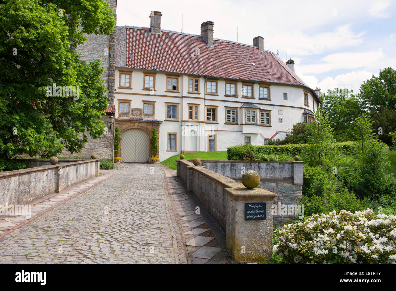 Castle Rheda, Rheda-Wiedenbrueck, North Rhine-Westphalia, Germany, Europe - Stock Image